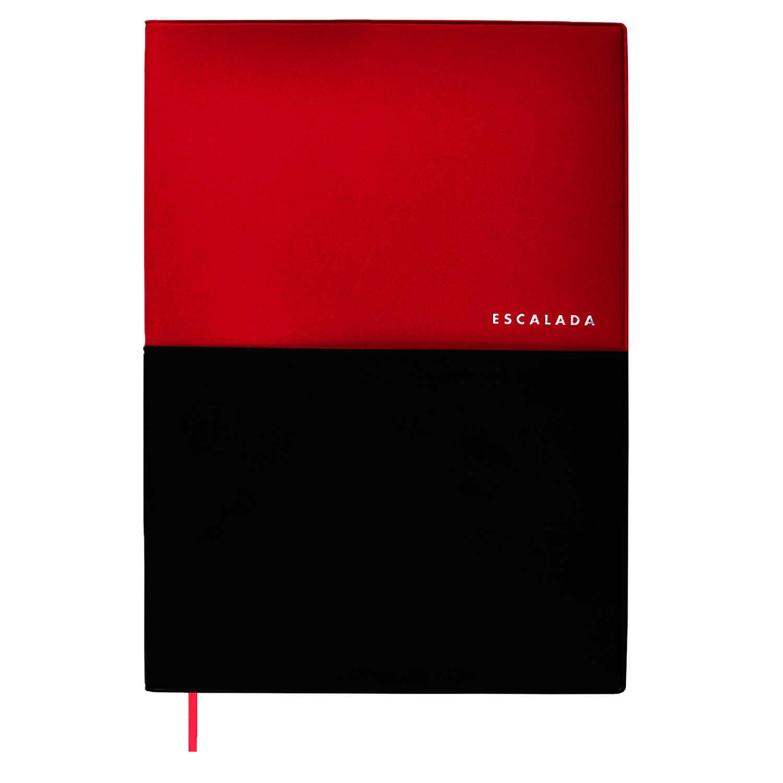 Ежедневник А4 Escalada Красный+чёрный пвх