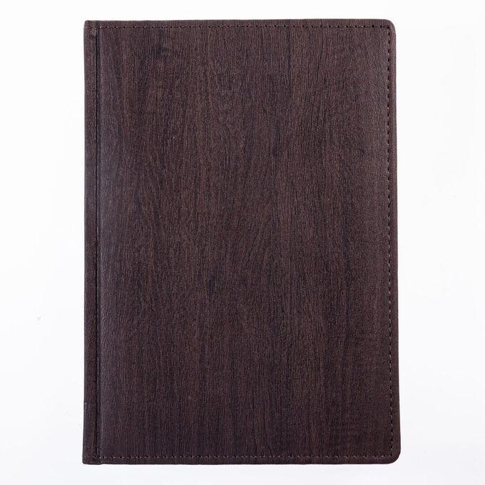 Ежедневник А5 2022г Acero Nature темно-коричневый