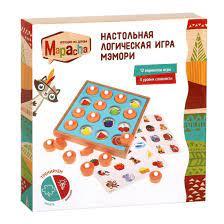 Игра Настольная Мэмори 3 уровня сложности, 12 игр (6 карточек по 2 стороны)