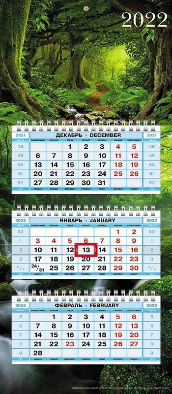 Календарь квартальный 2022 3Кв3гр5ц_25131 В сказочном лесу мал