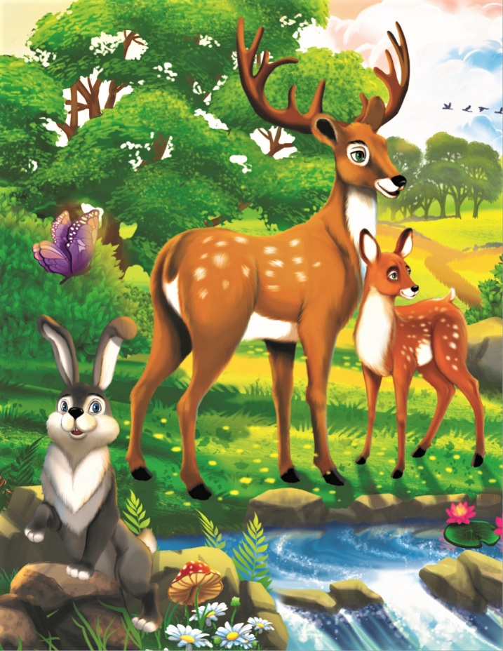 Творч Рисование по номерам 17х22 Дружелюбные зверята у реки