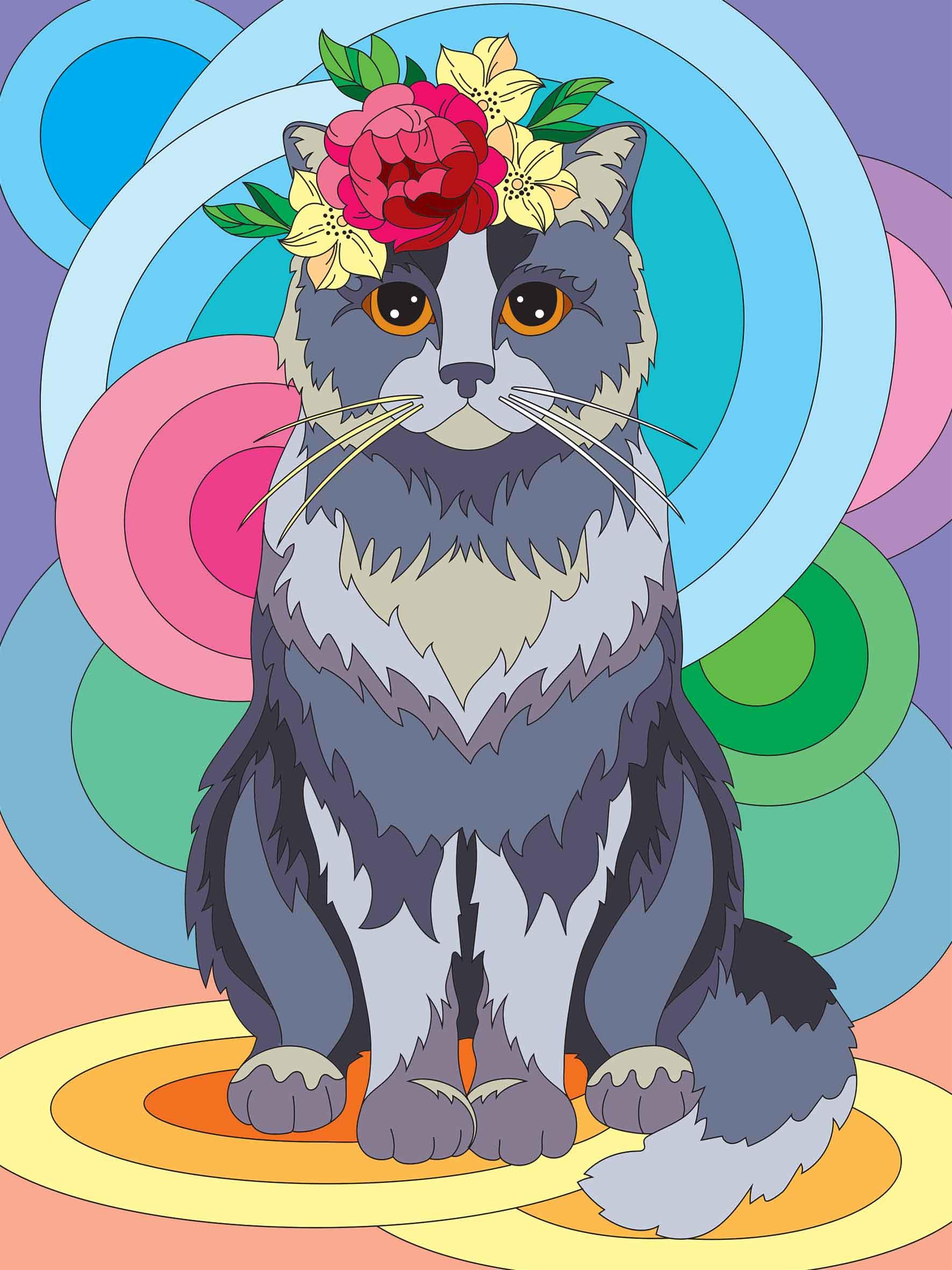 Творч Холст для рисования 30х40 Серая кошка
