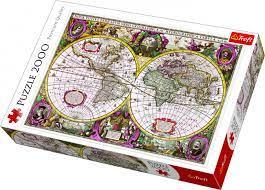 Пазл 2000 Trefl 27095 Карта новых земель и морей