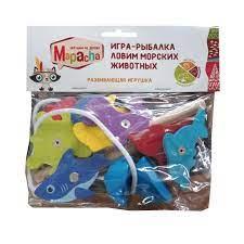 Игра Настольная Рыбалка Ловим морских животных 10дет 2 магнитных Удочки