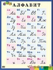 Плакат Алфавит. Печатные и рукописные буквы: Наглядное пос. для нач. школы