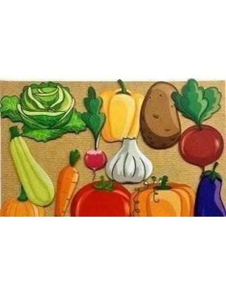 Игра Развивающая Овощи. Для детей старше 3 лет из фетра (игровое поле, фигурки, 13 деталей) + демонстрационные красочные карты