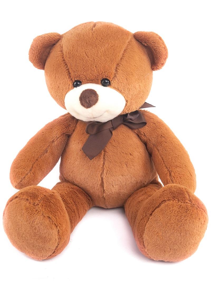 Мягконабивная Button Blue Мишка Тедди плюшевый, коричневый 35см