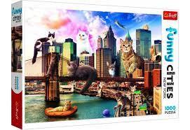 Пазл 1000 Trefl 10595 Кошки в Нью-Йорке