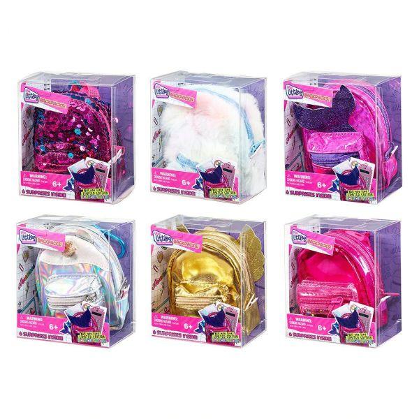 Набор Real Littles Рюкзачок + 6 мини/канц.товаров (с рогом и ушками) ассорти