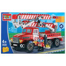 Конструктор Пожарная служба: Пожарный УРАЛ 117дет. пластм