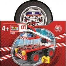 Конструктор Пожарная служба: Пожарная машина 39дет. пластм