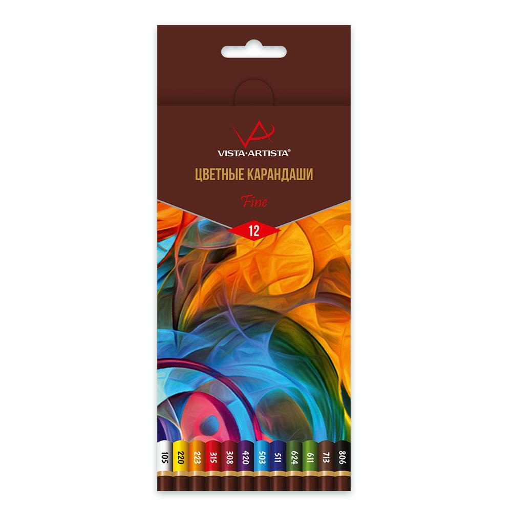 Карандаши цветные 12 цв Fine