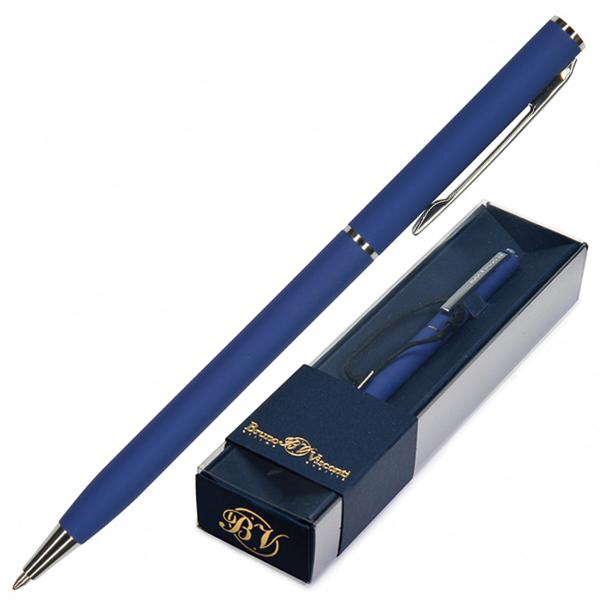 Ручка подар. BV синяя 0,7мм Palermo авт нежно-голубой корпус