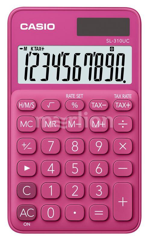 Калькулятор 10 разр. Casio карманный красный