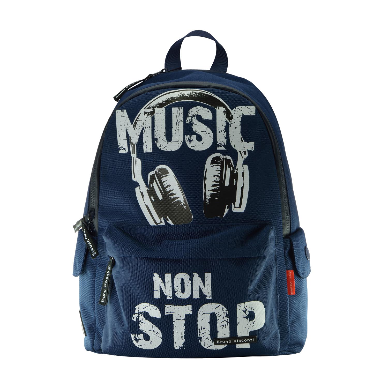 Рюкзак молодежный Bruno Visconti синий Music