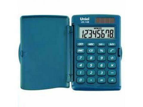 Калькулятор 8 разр. Uniel карманный морская волна