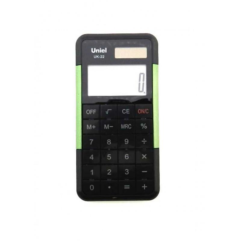 Калькулятор 8 разр. Uniel карманный салатовый