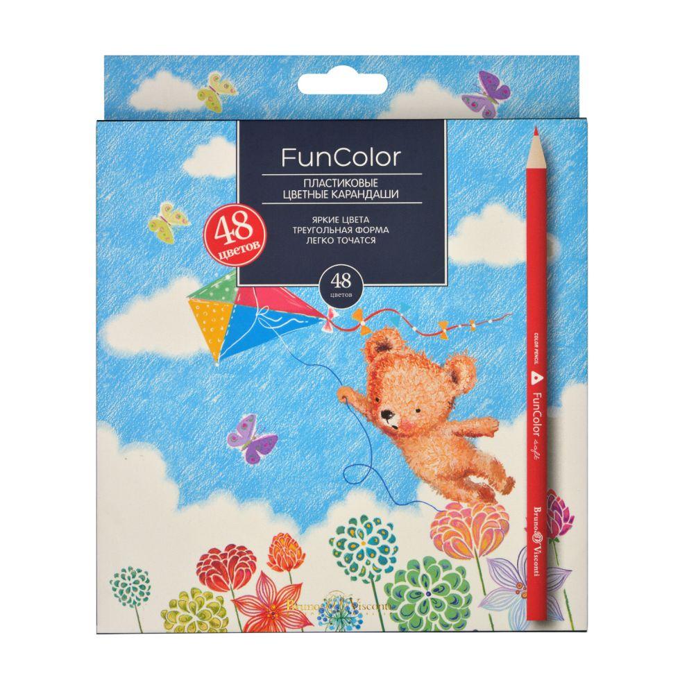 Карандаши цветные 48 цв Bruno Visconti Fun Color пластик