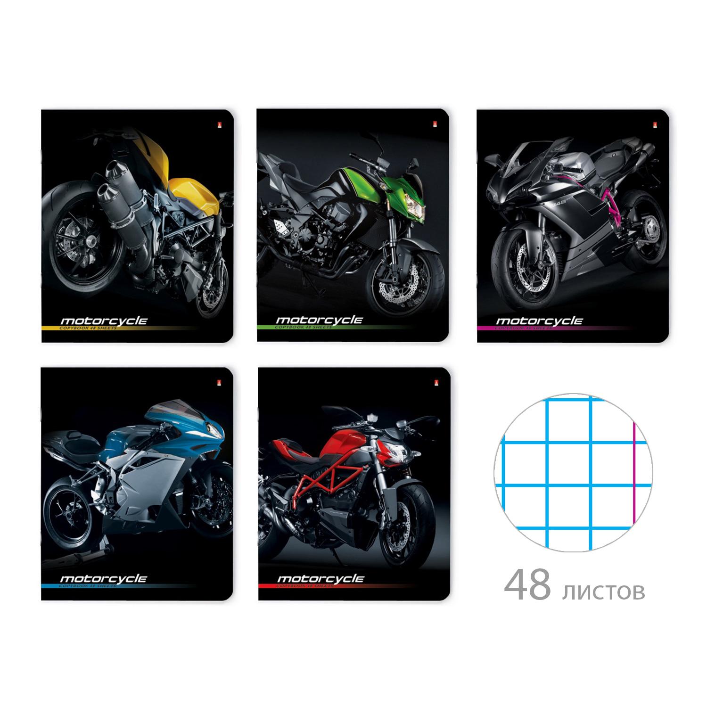 Тетрадь 48л кл Спортивные мотоциклы