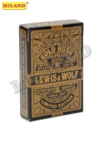 Карты игральные 54шт Lewis & Wolf Gold Rush (poker size index jumbo 63*88 м