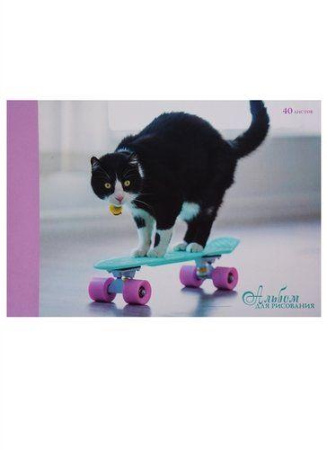 Альбом д/рис 40л Пушистый скейтер склейка