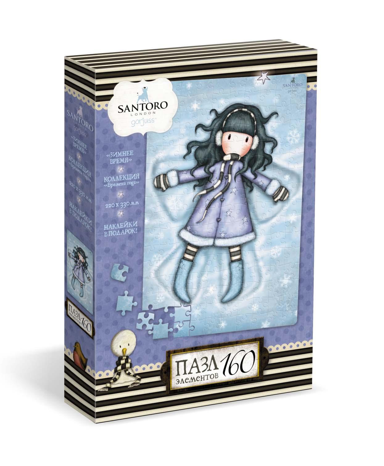 Пазл 160 Origami 04775 Santoro Зимнее время + наклейки