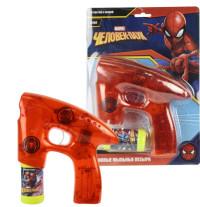Пистолет с мыльными пузырями Marvel Человек Паук 45мл свет. в темноте,