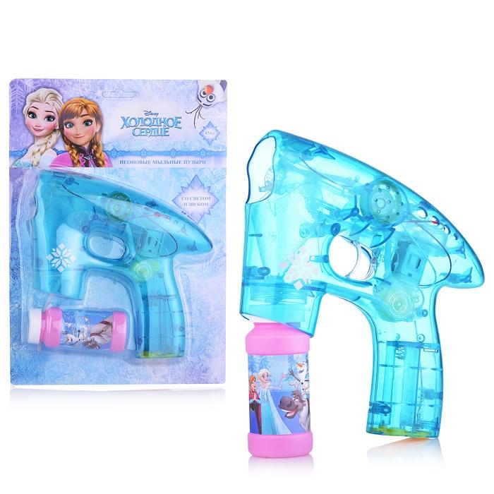 Пистолет с мыльными пузырями Disney Холодное сердце 45мл свет в темноте