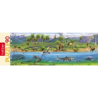 Пазл 90 Панорама Эра динозавров