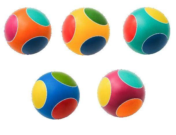 Мяч Кружочки 200мм грунтованный, окр. вручную
