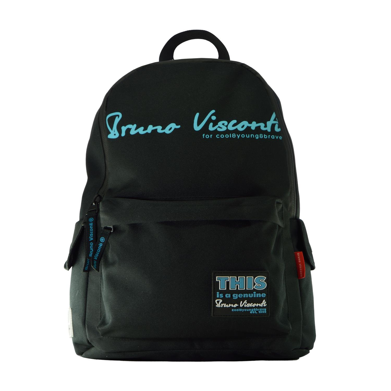 Рюкзак молодежный Bruno Visconti Original (бирюзовый) черный