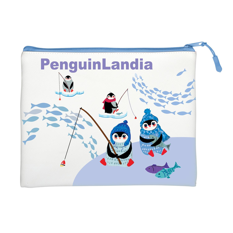 Папка на молнии А5+ Bruno Visconti Пингвины с ручкой-петлей