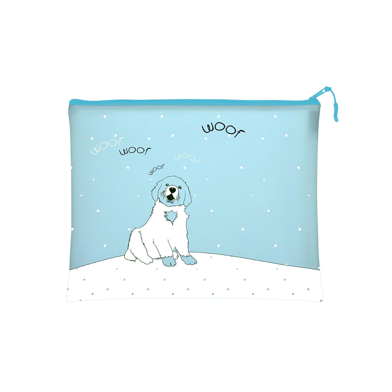 Папка на молнии А4 Bruno Visconti Веселая собачка с ручкой-петлей