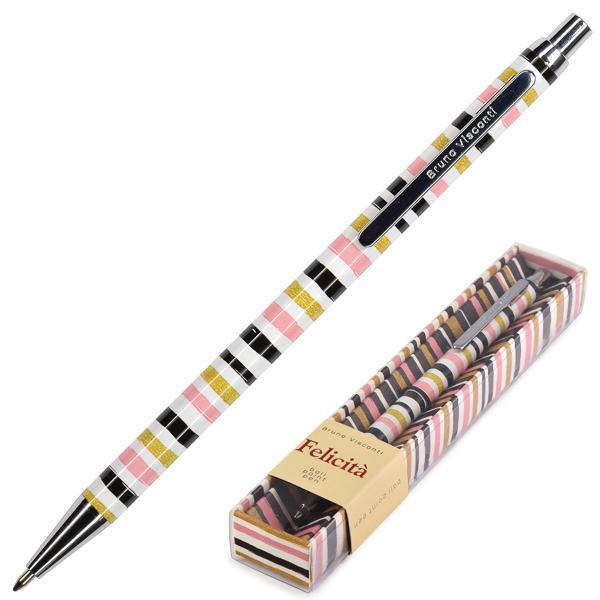 Ручка подар. BV синяя 0,7мм Felicita авт Полоска