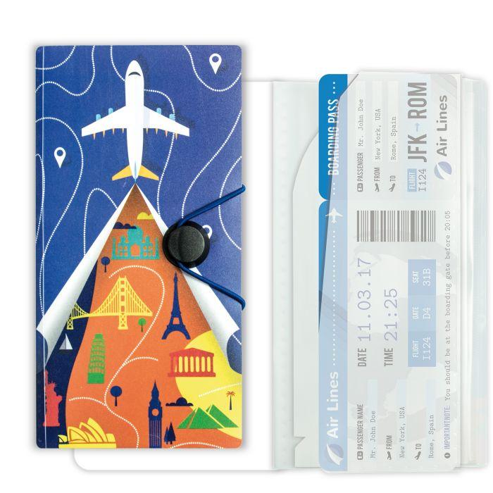 Папка-органайзер для путешествий А6 евро Самолет
