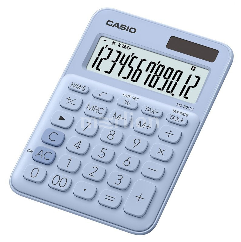 Калькулятор 12 разр. Casio настольный светло-голубой