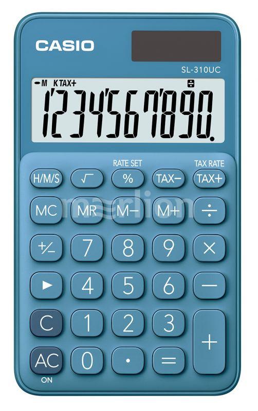 Калькулятор 10 разр. Casio карманный синий