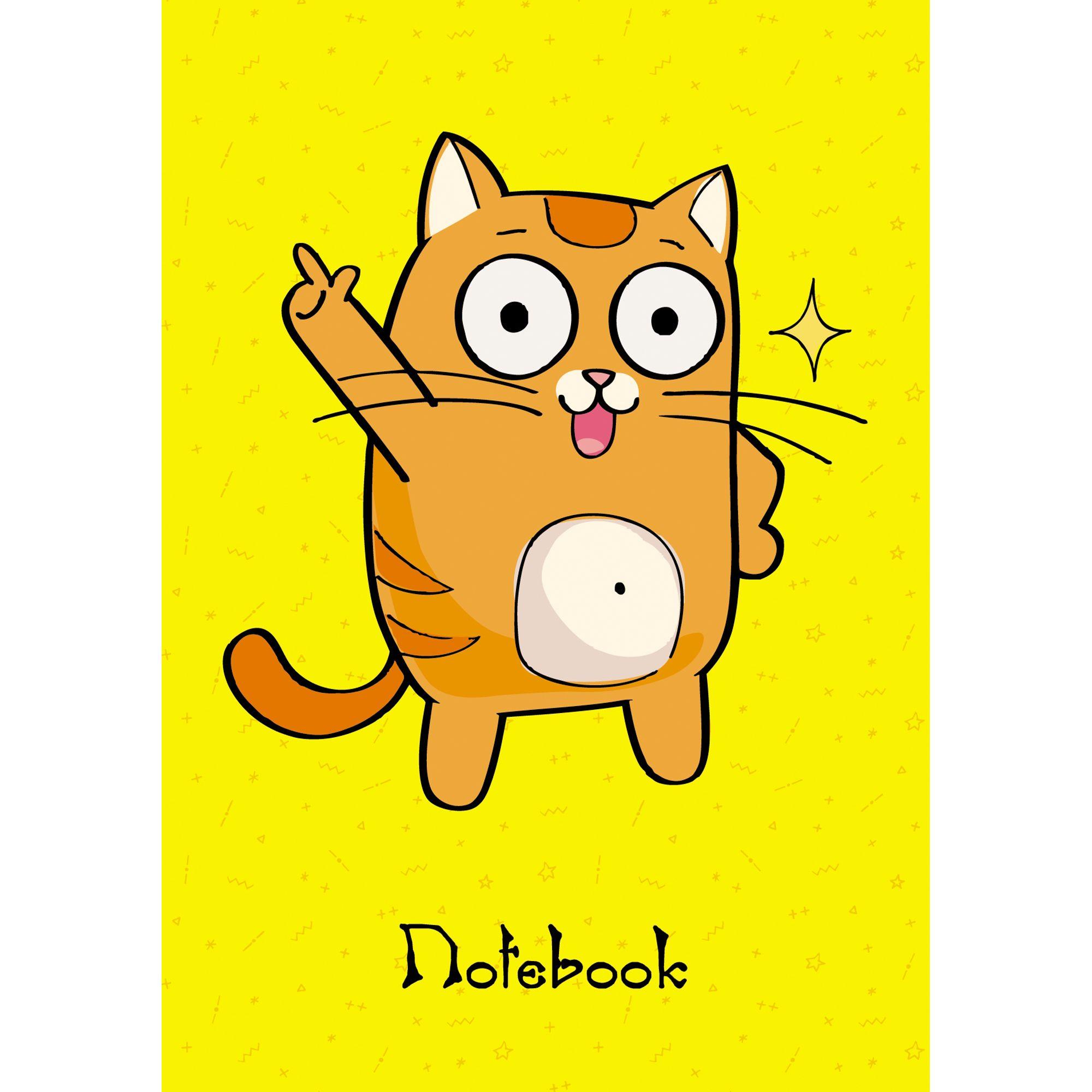Зап. книжка А6 96л кл Танцующий кот