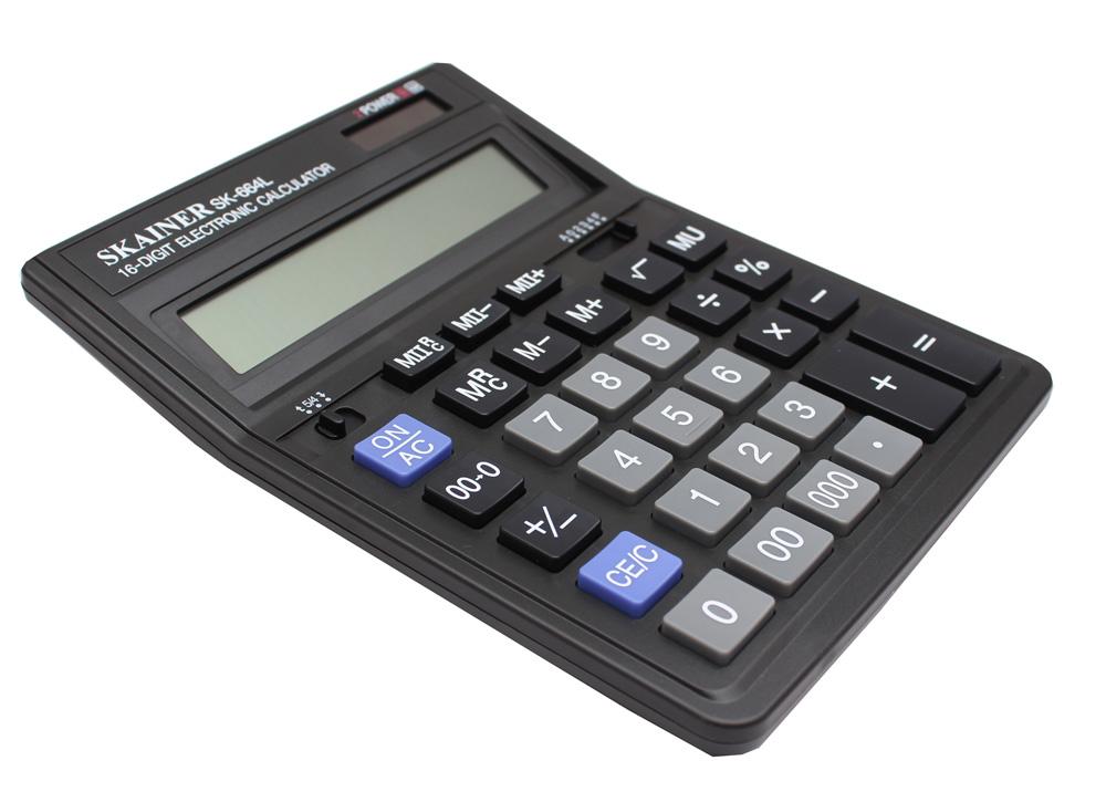 Калькулятор 16 разр. SKAINER бухгалтерский