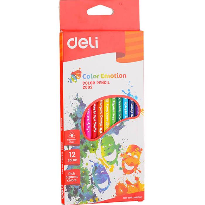 Карандаши цветные 12 цв Deli Color Emotion трехгран