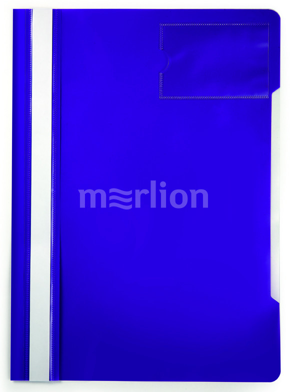 Папка-скоросшиватель верх прозрачный карман для визиток фиолет