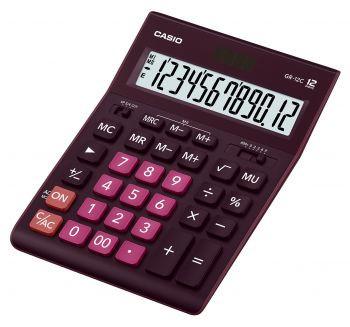 Калькулятор 12 разр. Casio настольный бордовый