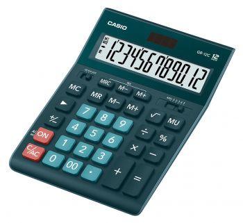 Калькулятор 12 разр. Casio настольный т/зеленый
