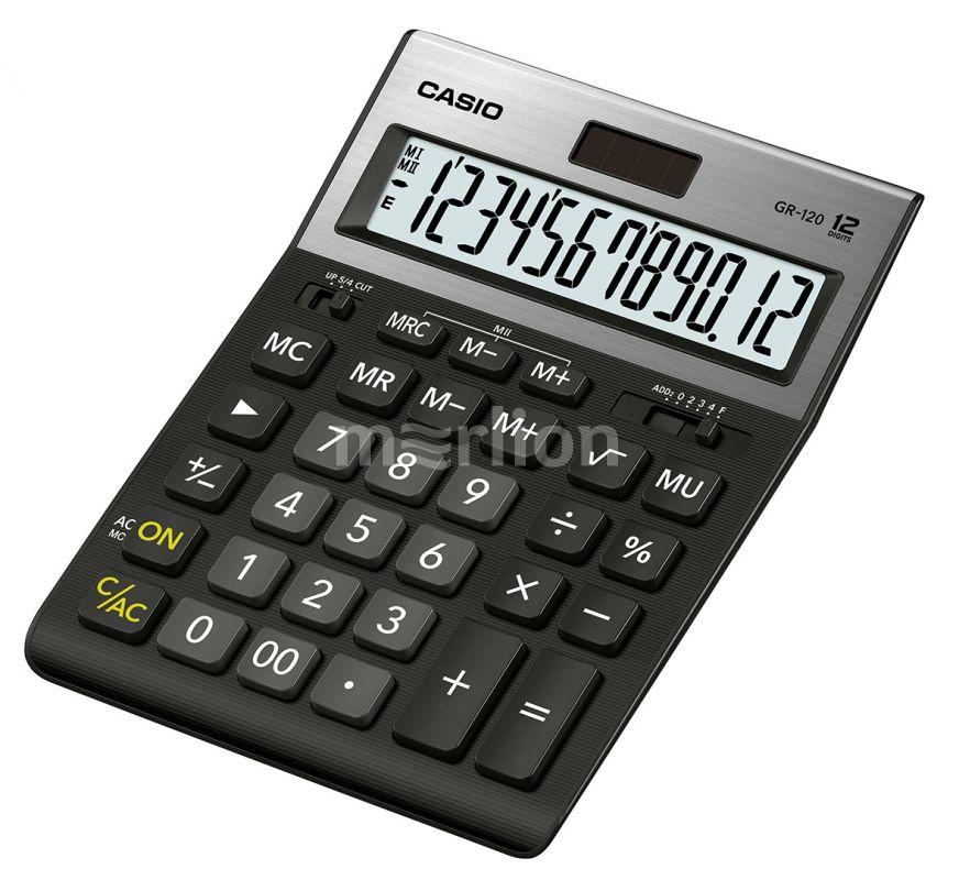 Калькулятор 12 разр. Casio настольный черный (аналог 888)