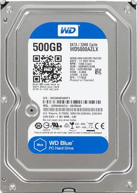 Жесткий диск WD Original SATA-III 500Gb WD5000AZLX Blue (7200rpm) 32Mb