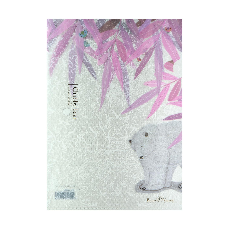 Папка-уголок 1 отд Bruno Visconti Белая медведица