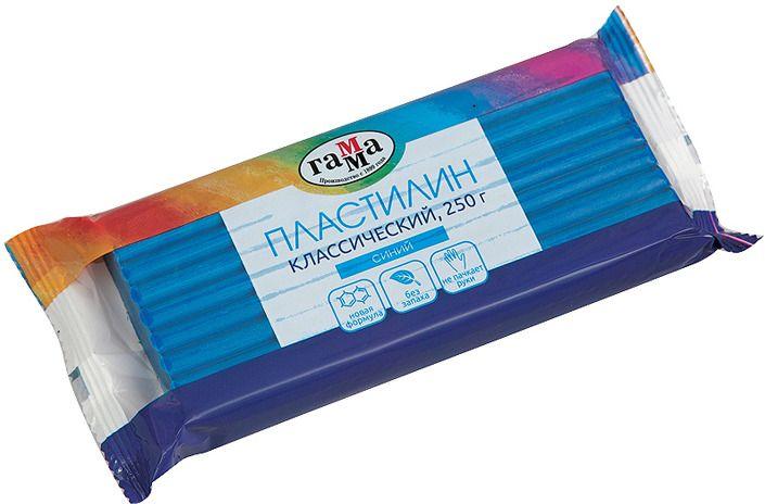 Пластилин 1 цв Классический 250гр синий