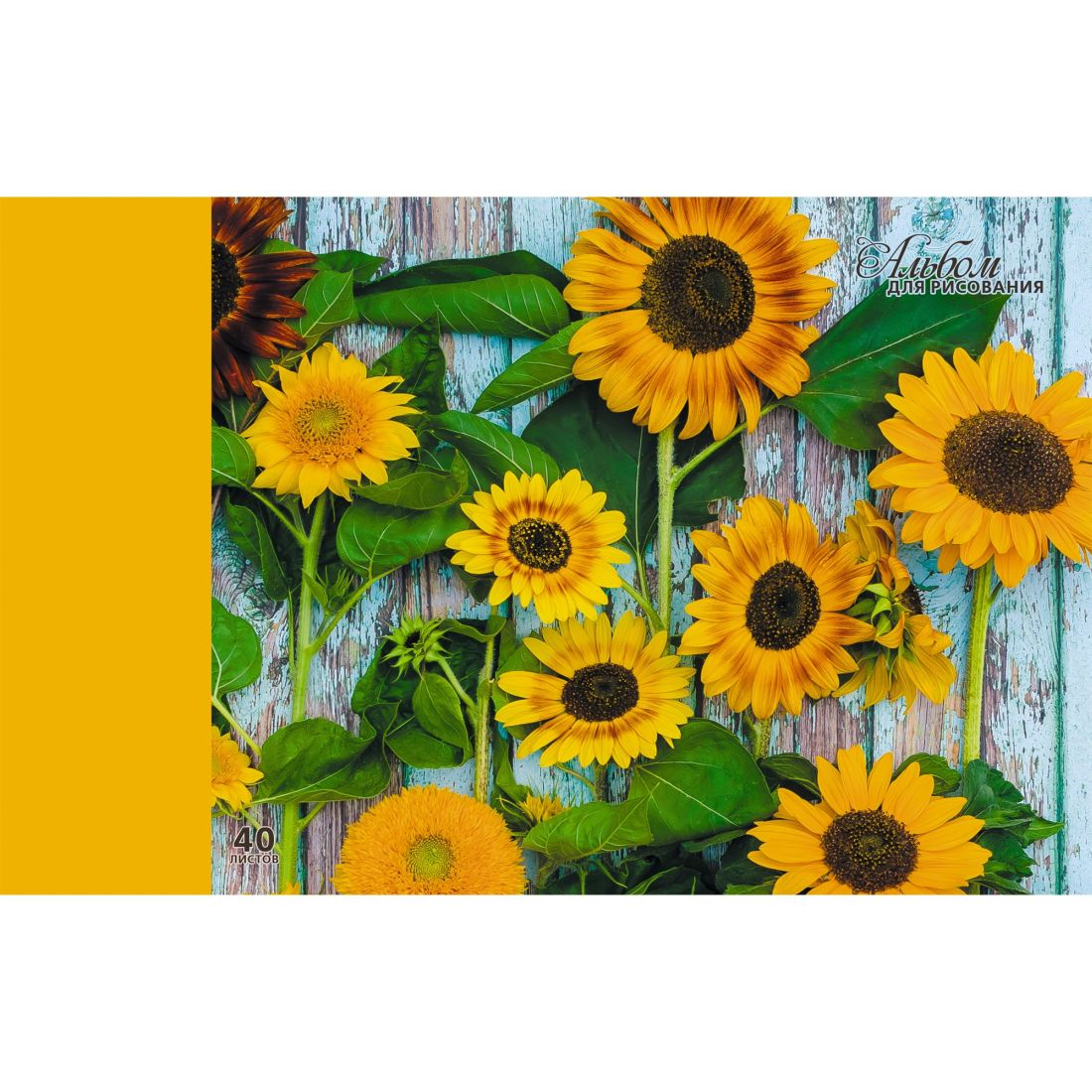 Альбом д/рис 40л Солнечные цветы 110гр склейка