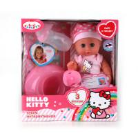 Кукла Пупс Карапуз Hello kitty 20см 3 функции, пьет и писает, с аксесс