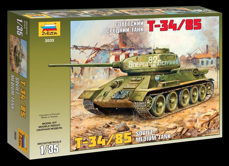 Сборная модель Советский средний танк Т-34-85 1/35
